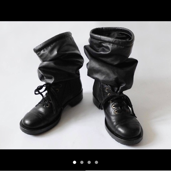 Chanel Shoes Runway Combat Boots Poshmark